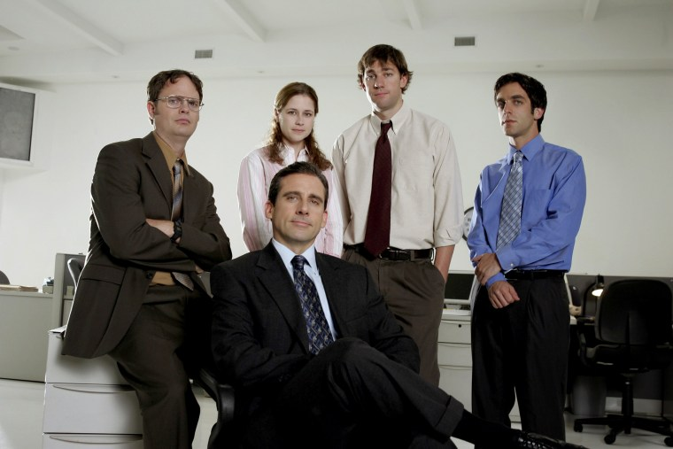 "Image: The cast of NBC's ""The Office."""
