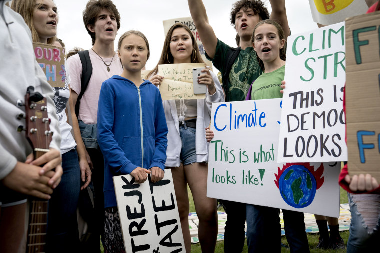 Image: Teen Activist Greta Thunberg Joins Climate Strike Outside The White House