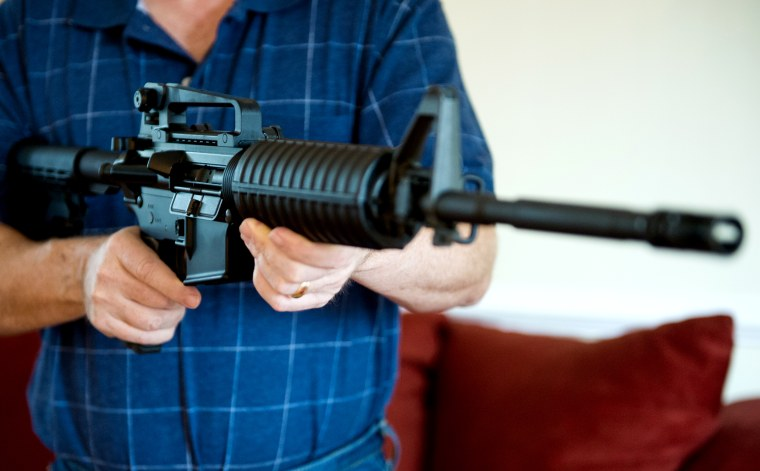 Image: A Colt AR-15 semi-automatic rifle.