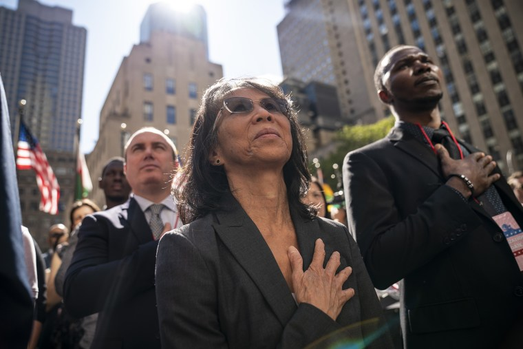 Image: Naturalization Ceremony Held For 50 New Citizens At Rockefeller Center In NYC
