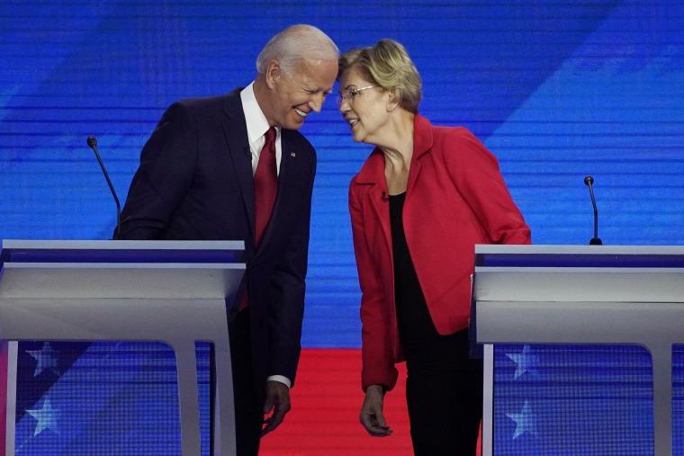 Image: Joe Biden, Eliazabeth Warren