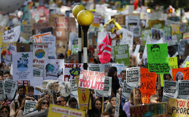 Image: Protesters around the world joined rallies on Friday as a day of worldwide demonstrations calling for action against climate change began ahead of a U.N. summit in New York.