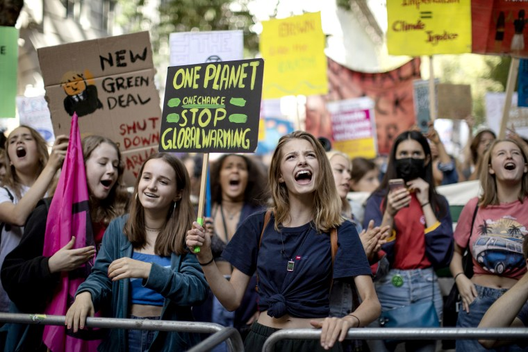 Image: Activists In London Join The Global Climate Strike
