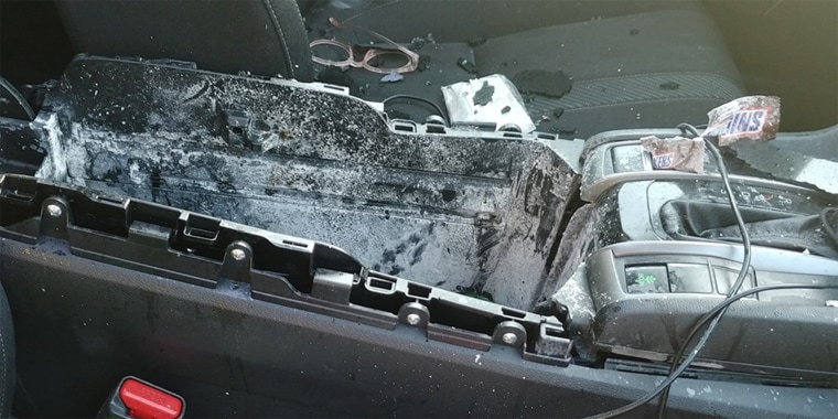Christine Debrecht is warning others after a can of dry shampoo blew up in her daughter's car on a hot day.