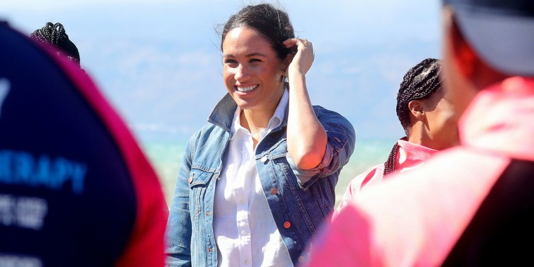 Britain's Prince Harry and his wife Meghan visit South Africa