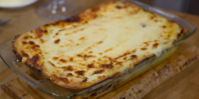 Anthony Scotto's Autumn Salad + Mushroom Lasagna + Double Chocolate Sponge Cake