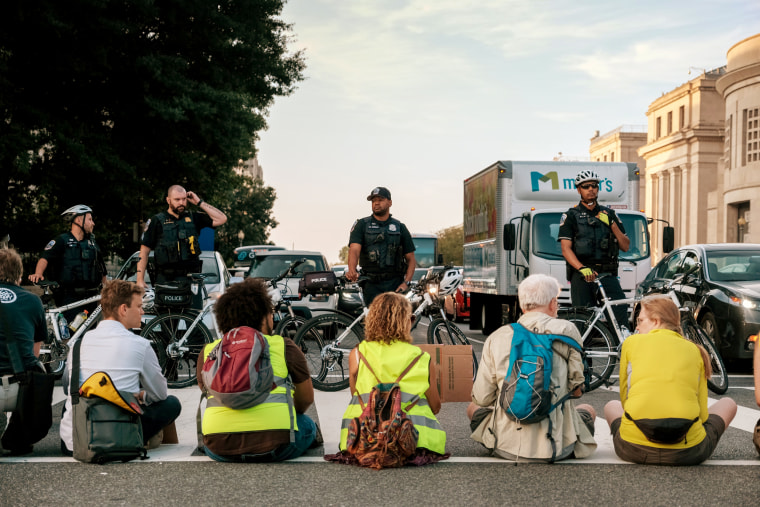 Washington climate protests leaves dozens of activists arrested