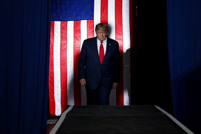Image: President Donald Trump arrives to speak at a campaign rally in Albuquerque, N.M., on Sept. 16, 2019.