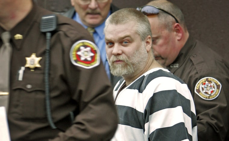 Image: Steven Avery is escorted out of the Manitowoc County Courthouse in Wisconsin on Nov. 15, 2005.
