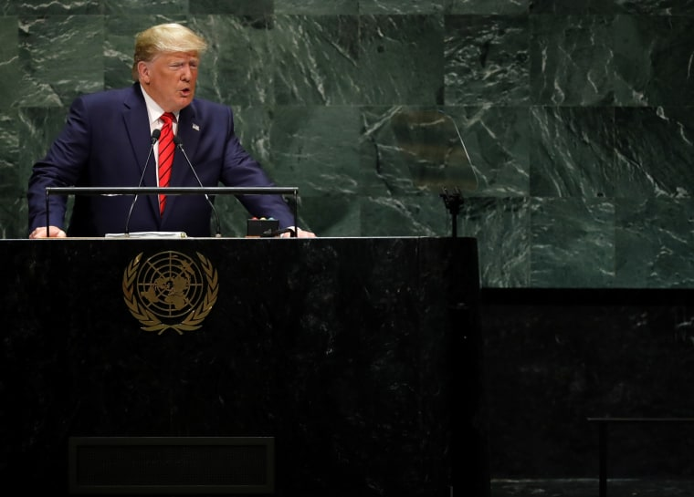 Image: President Donald Trump speaks at the United Nations General Assembly in New York on Sept. 24, 2019.