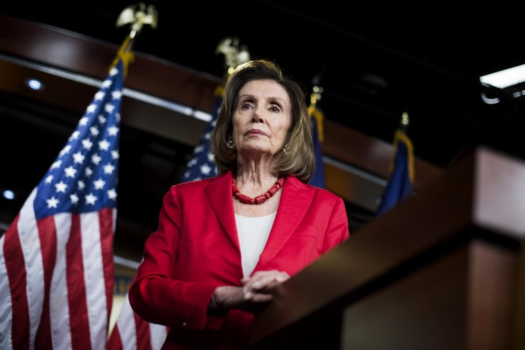 Image: House Speaker Nancy Pelosi speaks at a press conference on Capitol Hill on June 27, 2019.