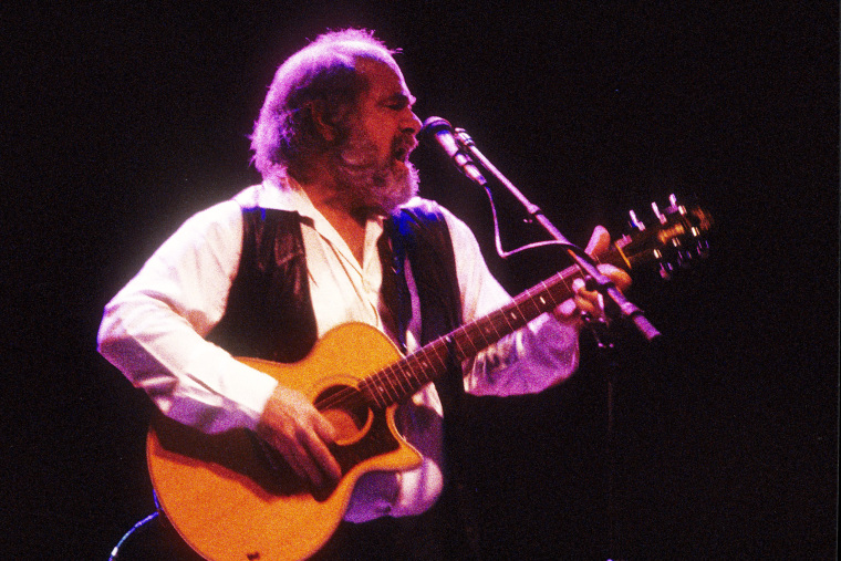 Image: Robert Hunter performs at The Fox Theater in Boulder, Colo., in 1995.