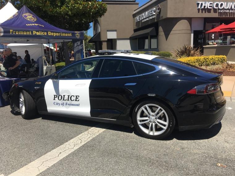 Image: Fremont Police tesla