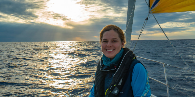 Crew member Marcia Reinauer, documentary filmmaker and offshore sailor who will be joining eXXpedition.
