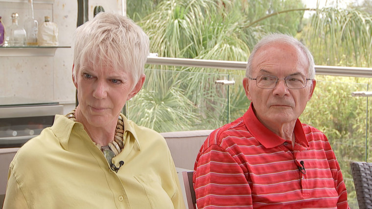 Kathy (left) and Jim Machir (right) moved to San Miguel de Allende from San Diego nearly nine years ago and had been building a house in the area when they found out all but $.40 was left in their accounts.