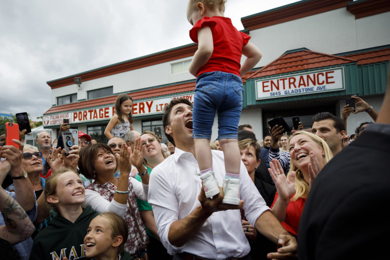 Image: ***BESTPIX*** Canadian Prime Minister Justin Trudeau Campaigns For Reelection