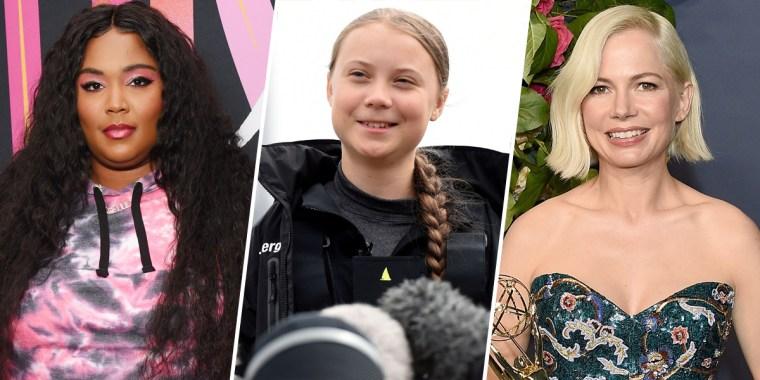 Image: Lizzo, Greta Thunberg and Michelle Williams