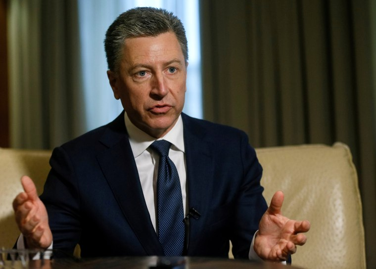 Image: U.S. Special Representative for Ukraine Negotiations Volker gestures during Reuters interview in Kiev