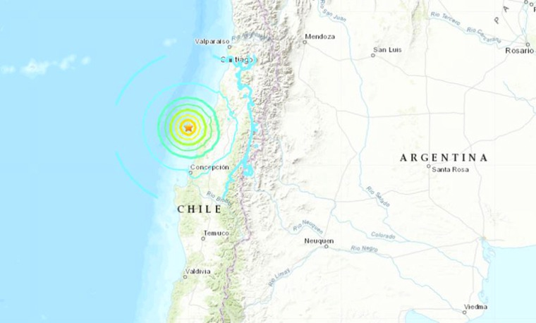Image: A 6.8 magnitude earthquake struck off the coast of Chile on Sept. 29, 2019.