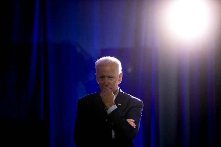 Image: Joe Biden listens during a forum in Columbia, S.C., on June 22, 2019.