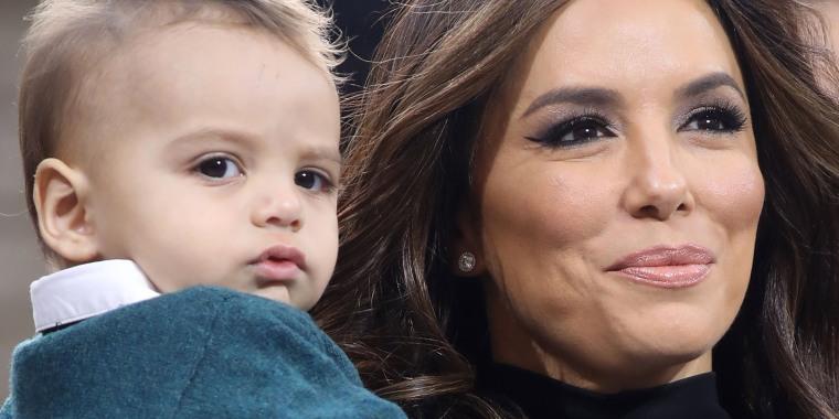 Eva Longoria's baby son, Santiago, stole the show at Paris Fashion Week