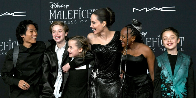 Angelina Jolie And Kids On Red Carpet At Maleficent Premiere