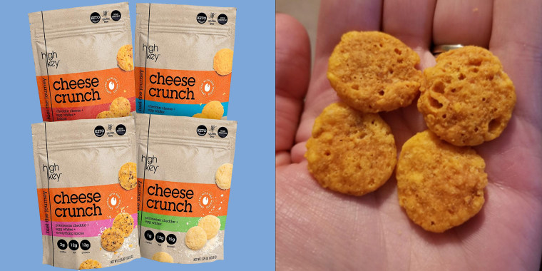 These cheesy snacks are crunchy and satisfying.