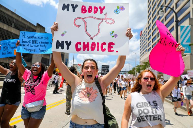Demonstrators Protest Georgia's Heartbeat Bill