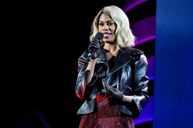 Image: Laverne Cox speaks at the Global Citizen Festival in Central Park on Sept. 28, 2019.
