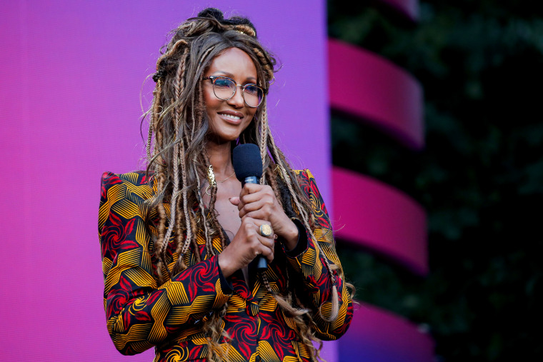 Image: Iman speaks at the Global Citizen Festival in Central Park on Sept. 28, 2019.