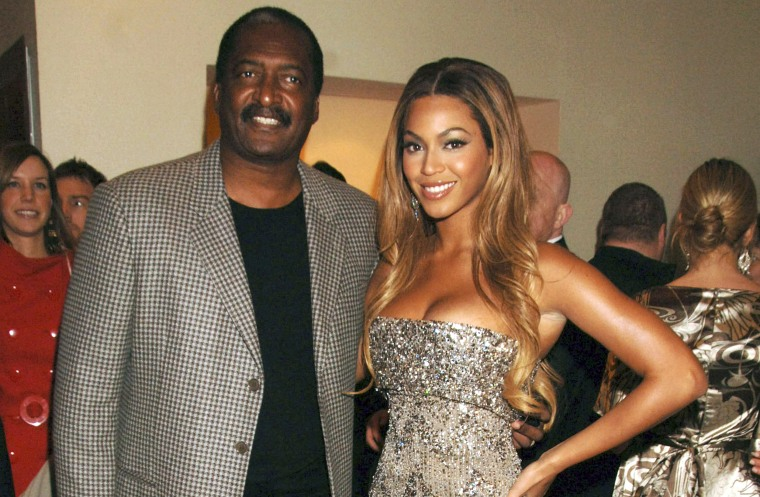 Image: Beyonce and Mathew Knowles