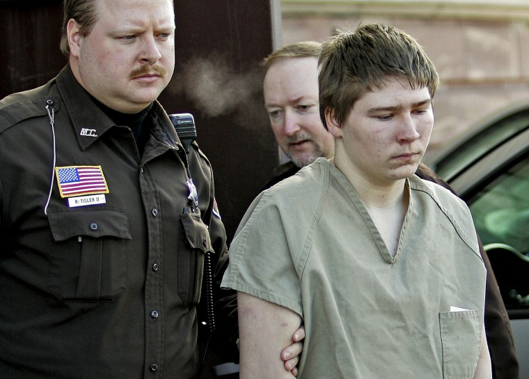 Image: Brendan Dassey is escorted from Manitowoc County court in Wisconsin on March 3, 2006.