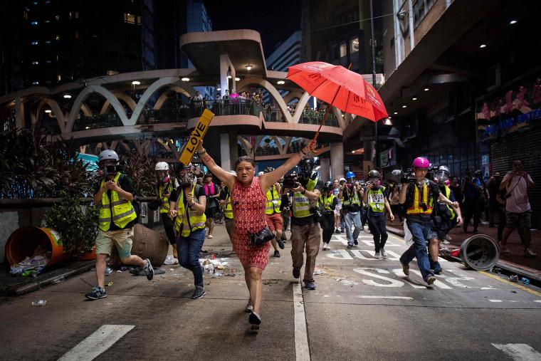 Image: TOPSHOT-HONG KONG-CHINA-POLITICS-UNREST-CRIME