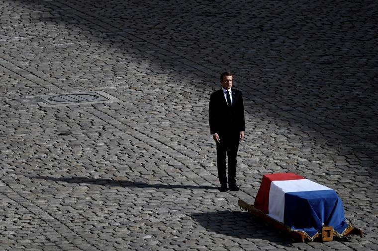 Image: TOPSHOT-FRANCE-POLITICS-CHIRAC-TRIBUTE-FUNERAL
