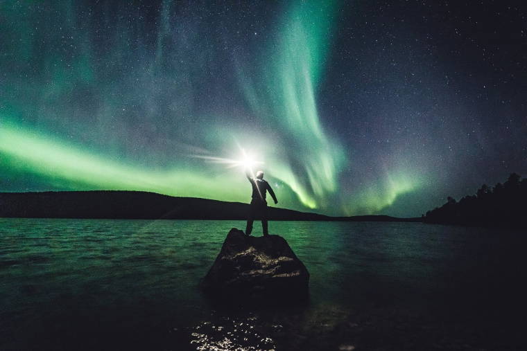 Image: The Aurora Borealis (Northern Lights) is seen in the sky in Ivalo of Lapland