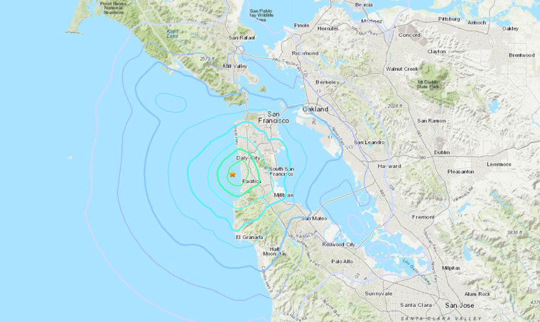 3.6 magnitude earthquake hits about 9 miles southwest of San Francisco