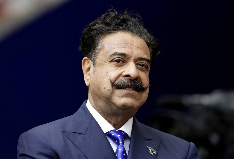 Image: Shad Khan at Wembley Stadium in London on Sept. 24, 2017.
