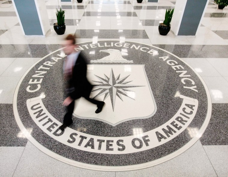 Image: The lobby of the CIA Headquarters building in McLean