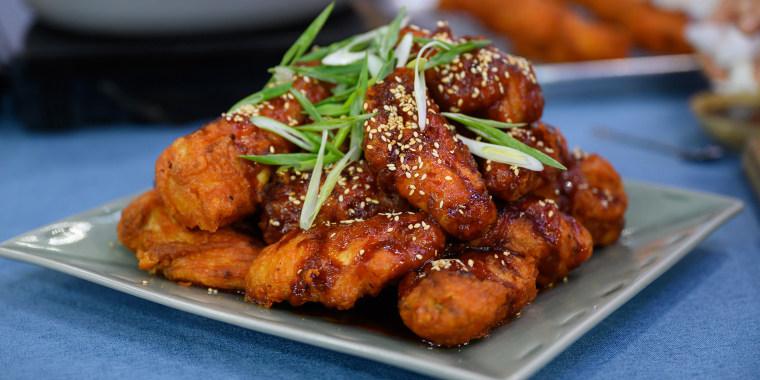 Judy Joo's Kimchi Mac & Cheese + Grilled Beef Short Ribs + KFC Wings