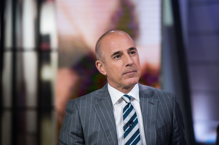 Image: Matt Lauer on the TODAY show Nov. 2, 2016.
