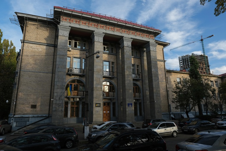 Image: The offices of NABU, the National Anti-Corruption Bureau of Ukraine, on Oct. 1, 2019 in Kiev, Ukraine.