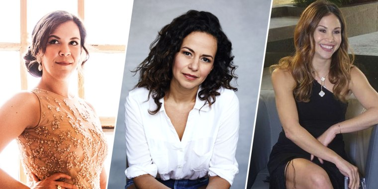 From left to right: Actresses Lindsay Mendez, Mandy Gonzalez and Bianca Marroquín