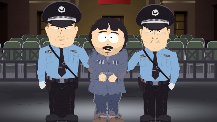 """A scene from """"Band in China"""" episode of """"South Park."""""""