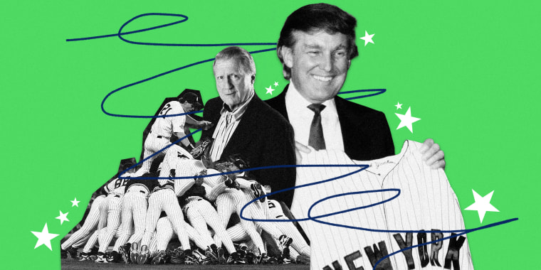 Image: Donald Trump, a longtime New York Yankees fan, considered former Yankees owner George Steinbrenner his best friend.