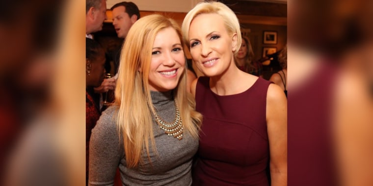 """Know Your Value brand and events manager Emily Cassidy with """"Morning Joe"""" co-host and Know Your Value founder Mika Brzezinski."""