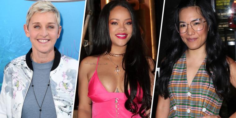 Image: Ellen Degeneres, Rihanna, Ali Wong