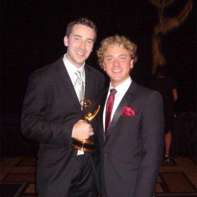 Joe Fryer and his partner, Peter.
