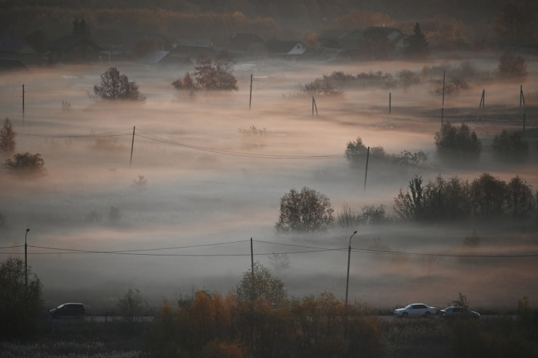 Image: A morning fog is seen in Omsk