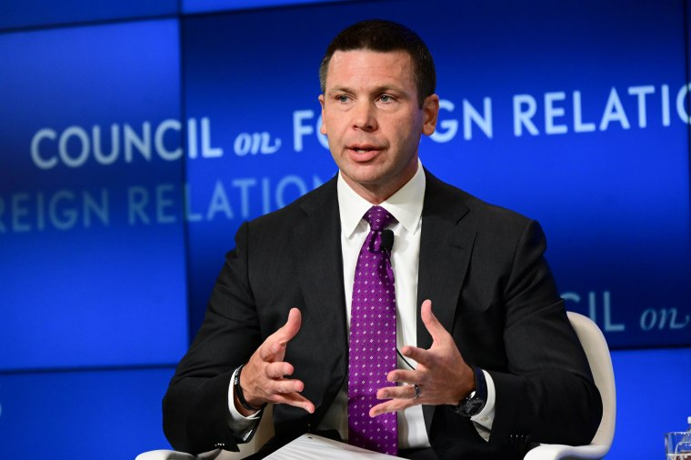 Image: U.S. acting DHS Secretary McAleenan speaks at a Council of Foreign Relations forum in Washington