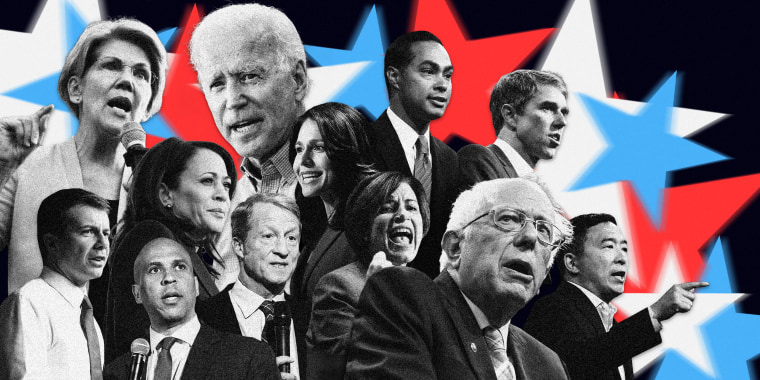 Image:  Twelve candidates will take the stage in a debate co-hosted by the New York Times and CNN in Columbus, Ohio, on Oct. 15.